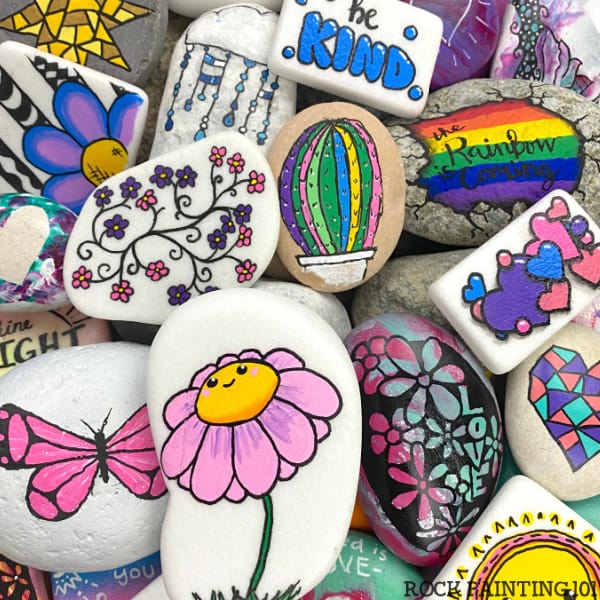 Over 100 painted rocks easy rock painting ideas 1