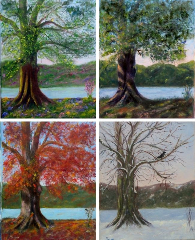 Paintings of Four Seasons by Marian Ludlow